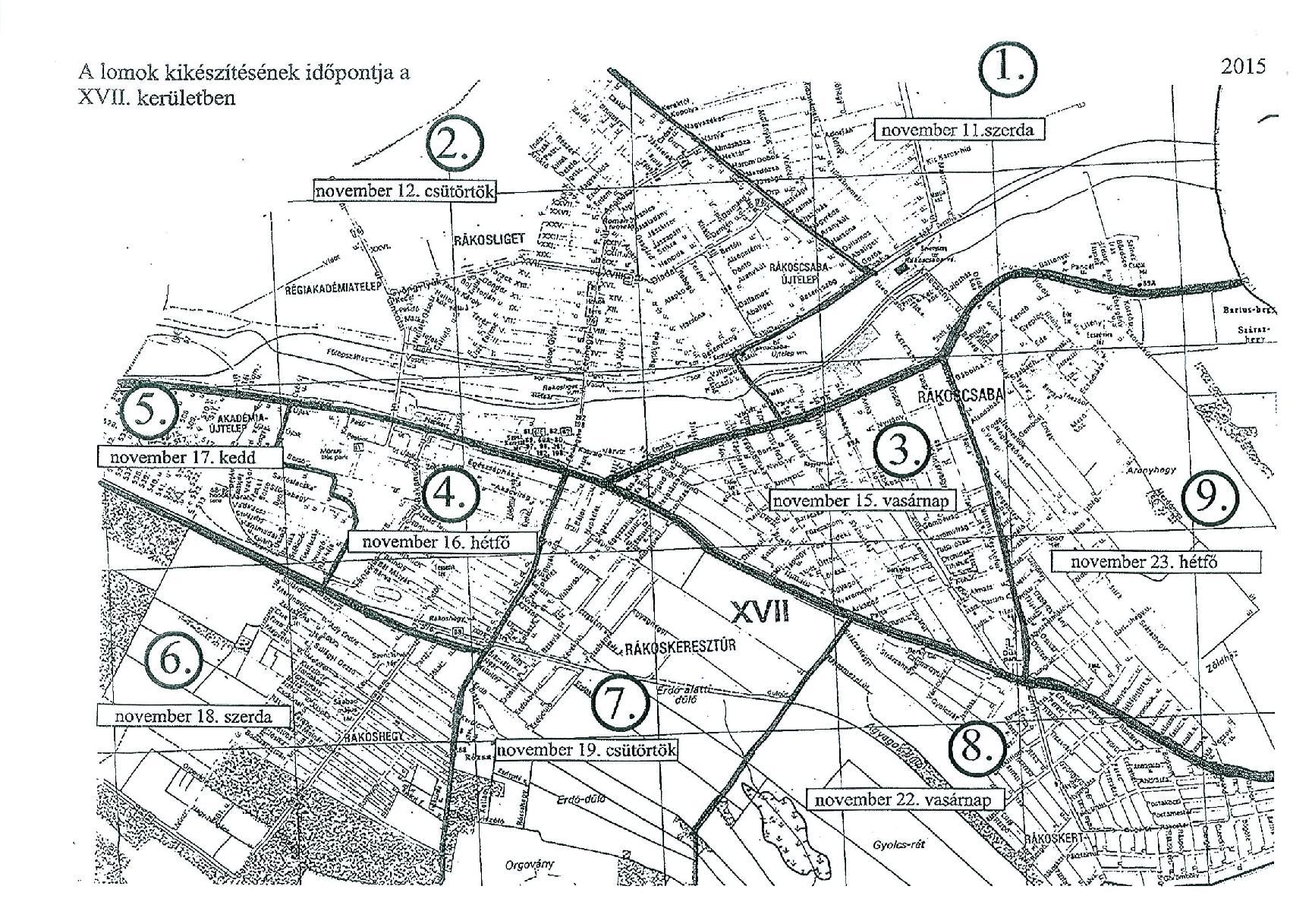 17 kerület térkép XVII. kerület   Rákosmente | Itt a rákosmenti lomtalanítási térkép! 17 kerület térkép